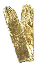 Gloves Gold Metallic Elbow Length