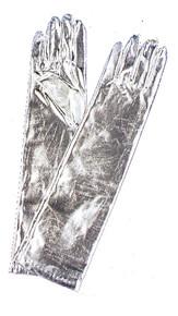 ADULT METALLIC SILVER GLOVES COSTUME ACCESSORY BA07SV