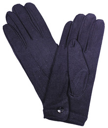 Gloves W/ Snaps Nylon Men's Black