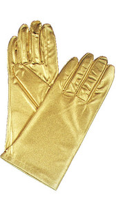 Gloves Gold Metallic Wrist Length
