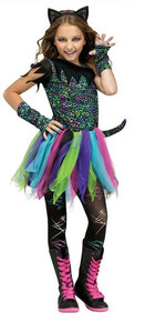 Wild Rainbow Cat Costume Child Medium