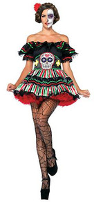 Day Of The Dead Doll Adult Costume