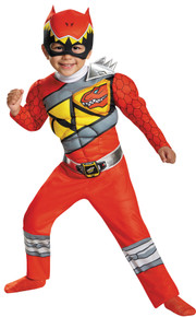 Power Ranger Dino Charge Muscle Child Costume Red Small