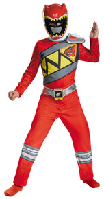Power Ranger Dino Charge Classic Child Costume Red 7-8