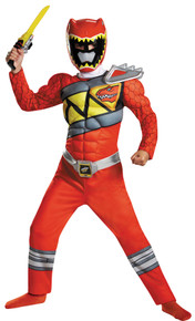 Power Ranger Dino Charge Classic Muscle Child Costume Red Large 10-12