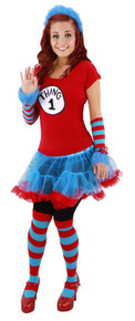 Thing 1/2 Adult Tutu Costume Large/XL