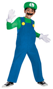 Luigi Costume Deluxe Child small