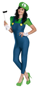Female Luigi Costume Deluxe Adult