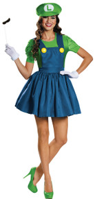Female Luigi w/ Skirt Adult Costume