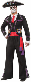 Day Of Dead Mariachi Macabre Men's Costume