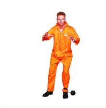 Escaped Convict Jumpsuit Adult Costume XL