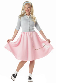 50's Poodle Skirt Adult Costume