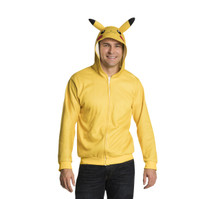 Pikachu Hoodie with Tail Adult