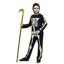 Skeleton Jumpsuit Child Costume Small 4-6