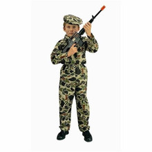 Army Commando Costume Child Sml 4-6