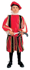 Rennaissance Boy Costume Red