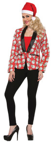 Santa Claus Female Blazer Adult
