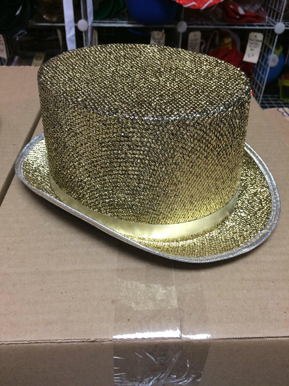 cef5393ed34 ... 12pc Gold Sequined Top Hats. Image 1. Loading zoom