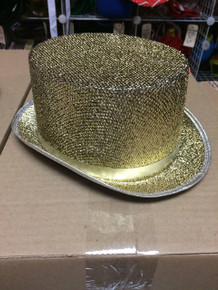 12pc Gold Sequined Top Hats
