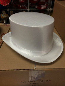 12pc White Permasilk Top Hats