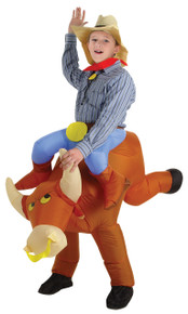 Inflatable Bull Rider Child Costume