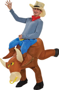 Inflatable Bull Rider Adult Costume
