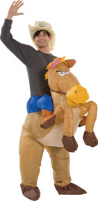 Inflatable Horse Rider Adult Costume