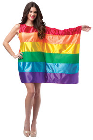 Rainbow Flag Dress Adult Costume