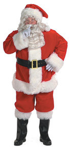 Santa Suit Deluxe Plush (50-56 Jkt)