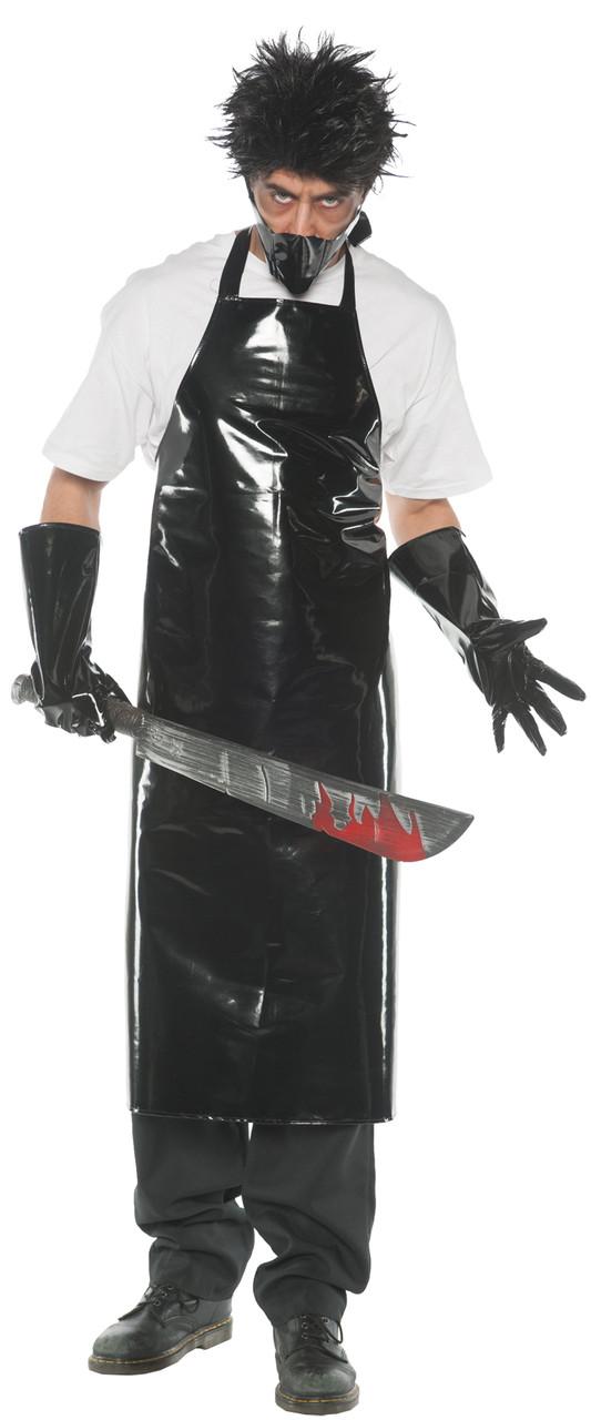 Bloody Apron Horror Costume Clown Mask Bloody IT Doctor Machete Fancy Dress