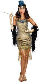 Golden Girl  Flapper Adult Costume