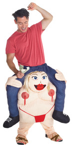 Fat Stripper Piggyback Adult Costume