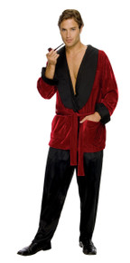 Hugh Hefner Smoking Jacket Adult Costume