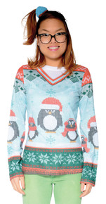 Ugly Winter Penguin Ladies Sweater