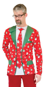 Ugly Christmas Suit & Tie Shirt