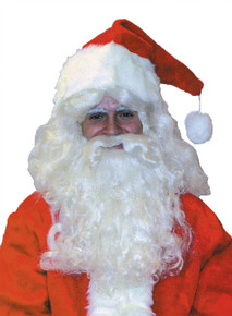 Santa Wig & Beard Deluxe Nylon Set