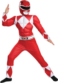 Red Power Ranger Muscle Child Costume Large 10-12