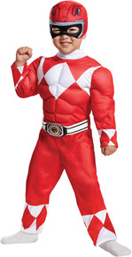 Red Power Ranger Toddler Muscle Costume