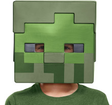 Zombie Minecraft Child Half Mask