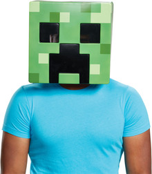 Creeper Minecraft Adult Mask