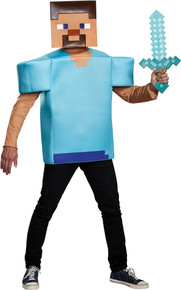 Steve Minecraft Adult Costume