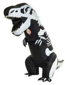 T-Rex Skeleton Inflatable Child Costume