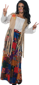 Hippie Fringed Vest Adult