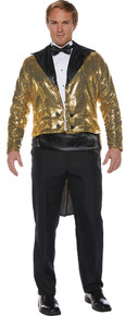 Gold Sequined Adult Sized Tailcoat