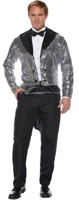 Silver Sequined Adult Sized Tailcoat