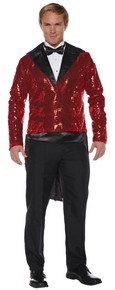 Sequined Adult Sized Tailcoat Red