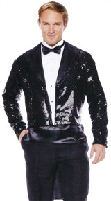 Black Sequined Adult Sized Tailcoat