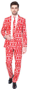 Ugly Red Christmas Sweater Novelty Suit