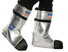 Silver Astronaut Child Boot Covers