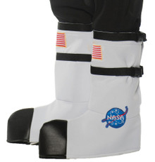 White Astronaut Child Boot Covers